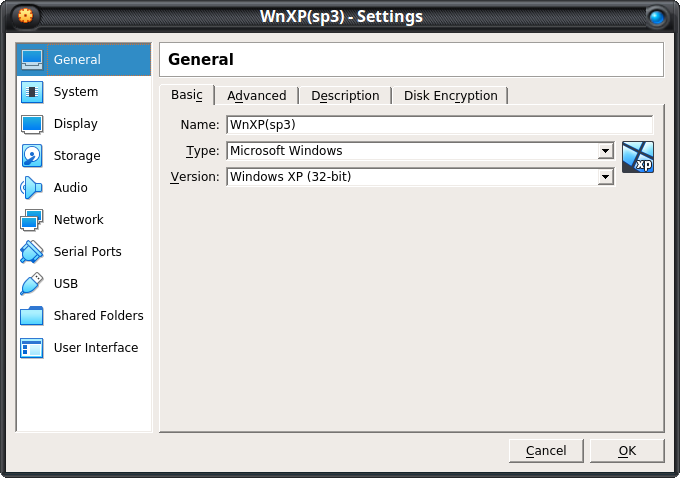 Windows XP pro (sp3) VDI  file for Virtualbox