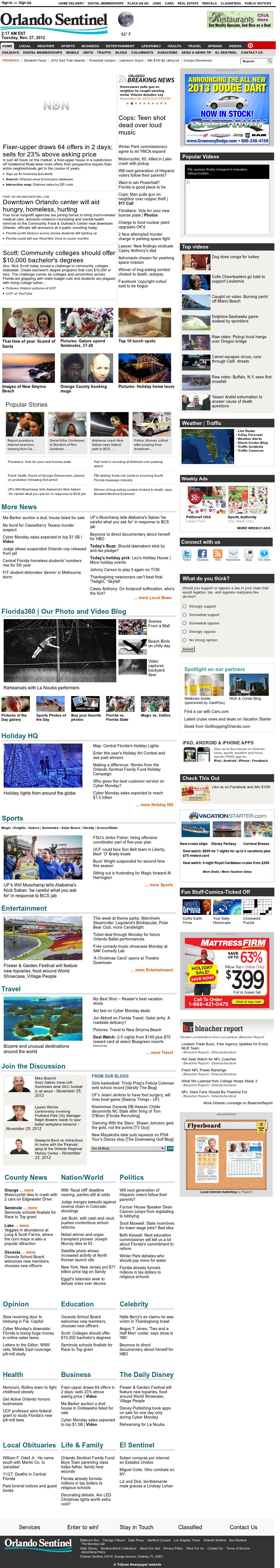 Orlando Sentinel at Tuesday Nov. 27, 2012, 7:24 a.m. UTC