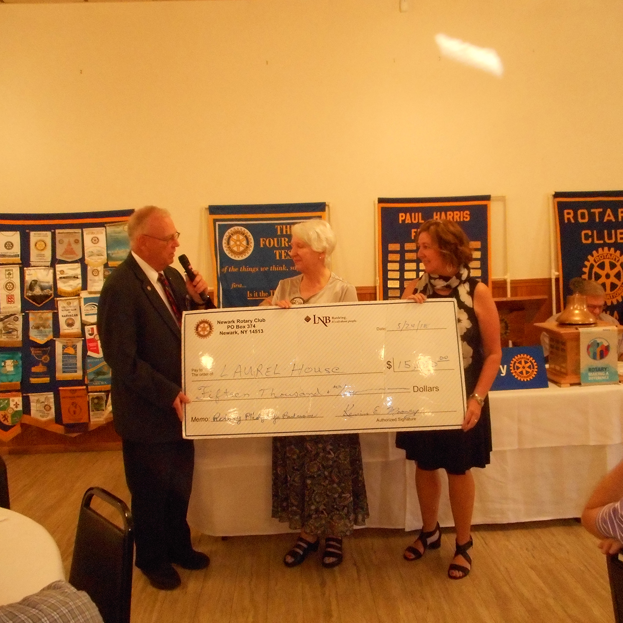 Rotary completes major donation to Laurel House