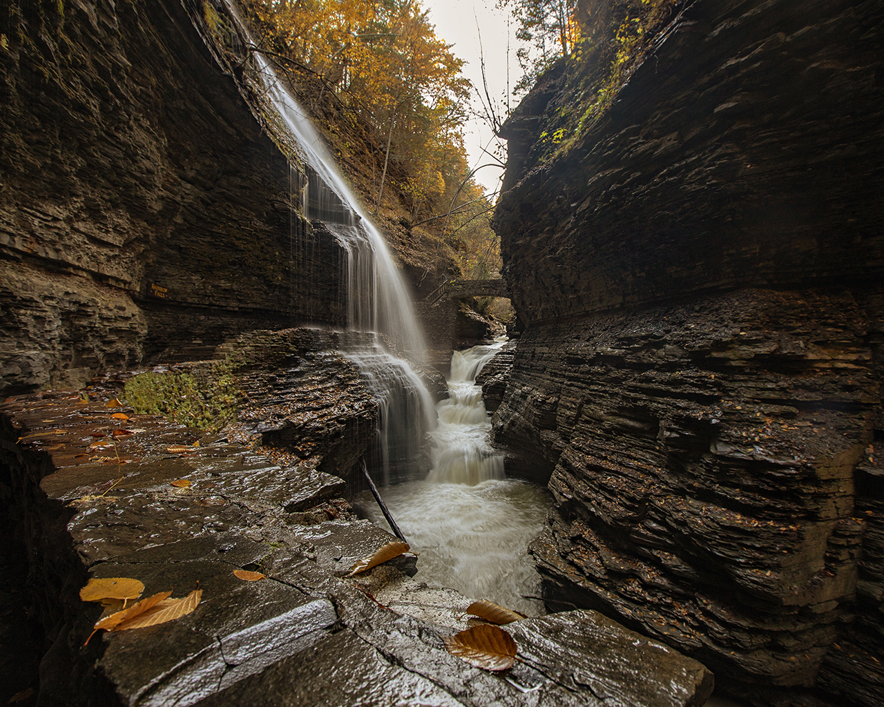 Rainbow Falls in Schuyler County (photo)