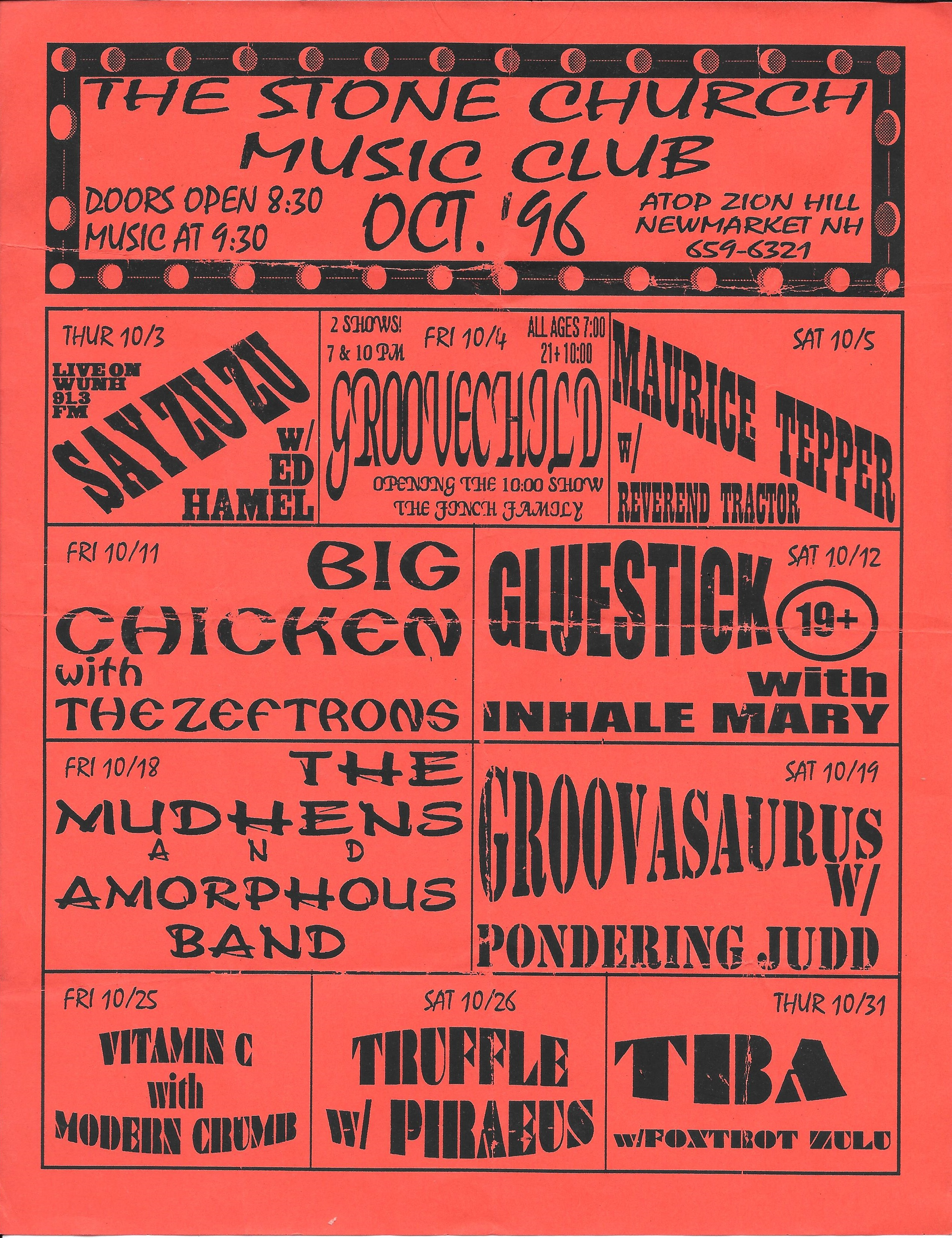 Foxtrot Zulu Live at The Stone Church on 1996-10-31 : Free