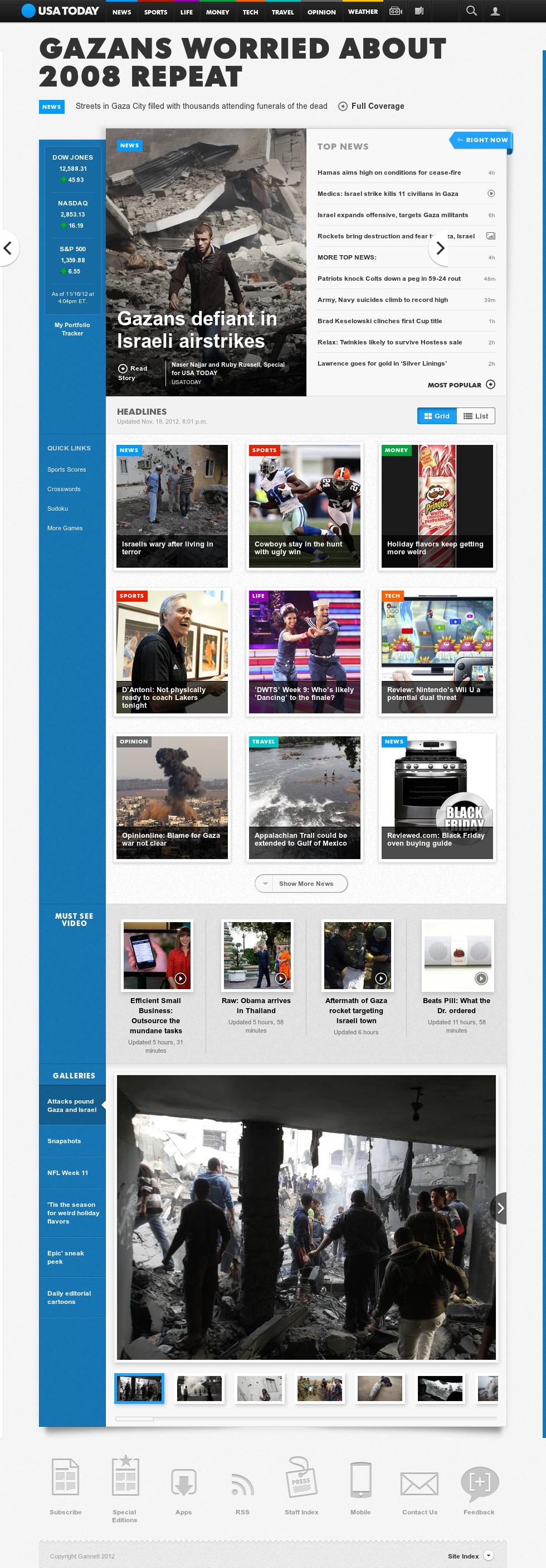 USA Today at Monday Nov. 19, 2012, 1:33 a.m. UTC