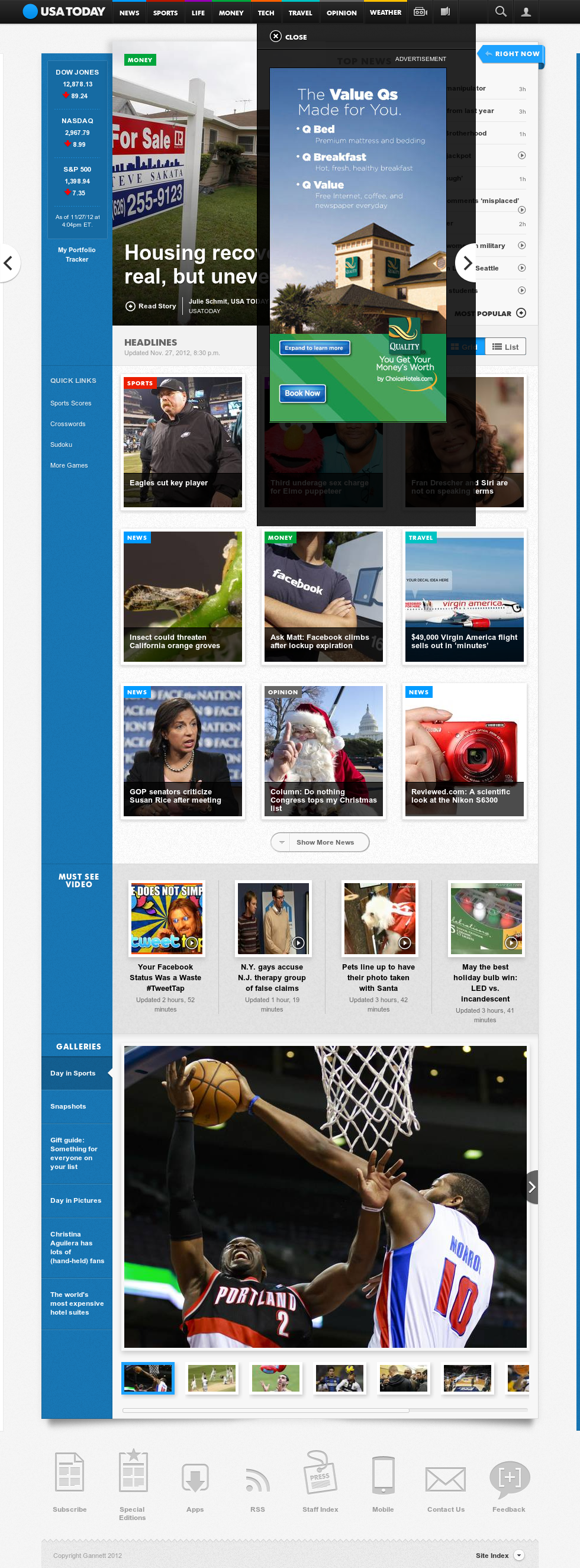 USA Today at Wednesday Nov. 28, 2012, 1:38 a.m. UTC