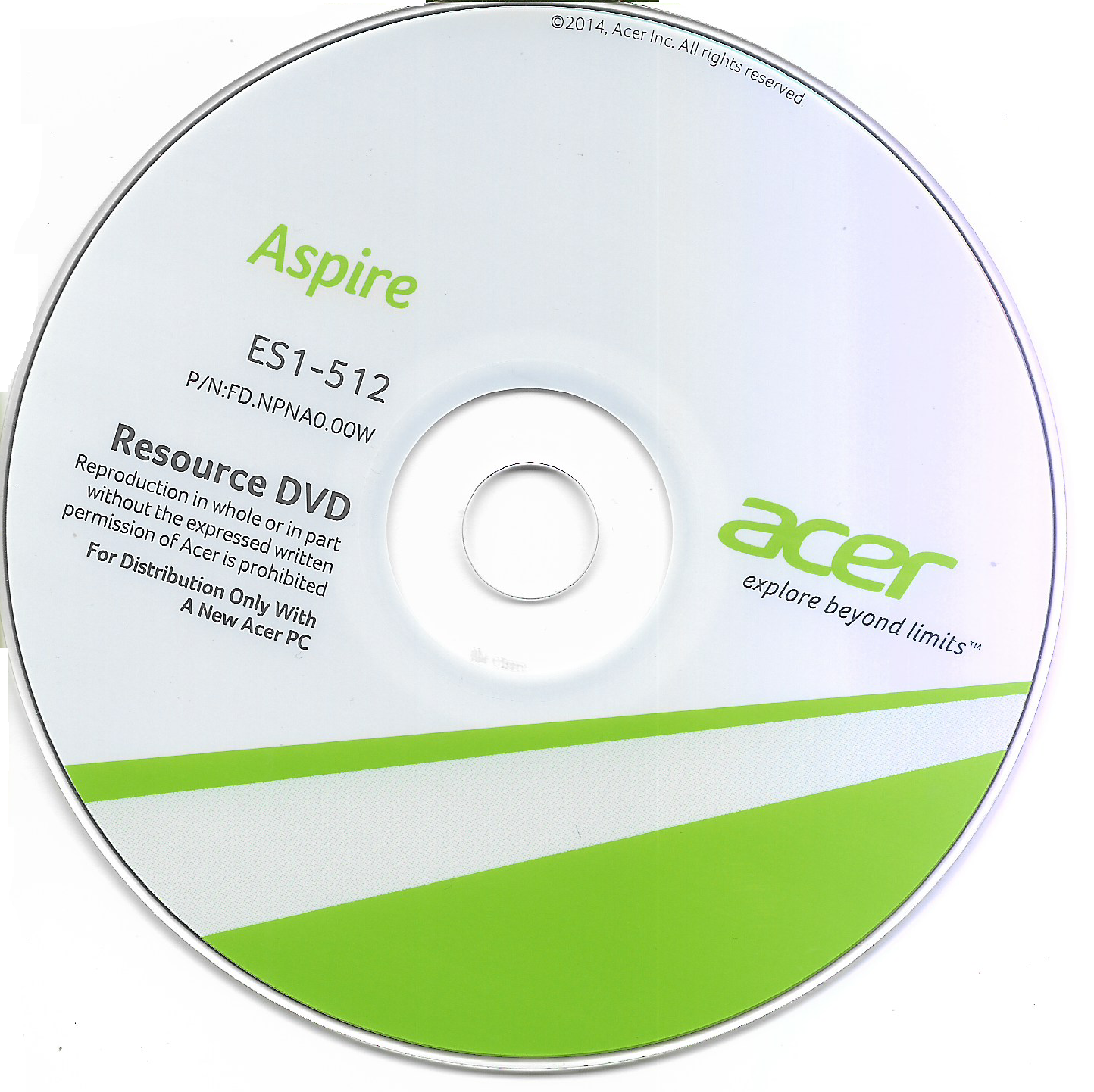 Acer Aspire ES1-512 Resource DVD