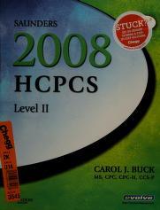 Cover of: Saunders 2008 HCPCS Level II | Carol J. Buck